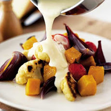 Roast Winter Veg With Fondue Sauce