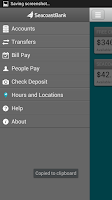 Screenshot of SeacoastBank Personal Banking