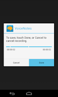 Screenshot of Voice Notes