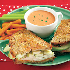 Grilled Turkey, Cheddar and Apple Sandwiches