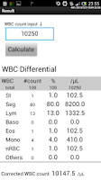 Screenshot of WBC Counter