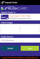 Screenshot of RushCard