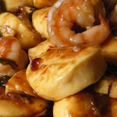 Tofu and Shrimp With Hoisin Sauce