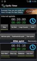 Screenshot of Cyclic Timer Free