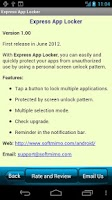 Screenshot of Express App Locker Free