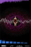 Screenshot of Model Dance Music visualizer
