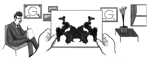 Google Doodle Hermann Rorschach's 129th Birthday