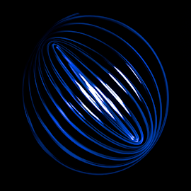 Blue spirograph light painting with swinging torch by Nick Dale - Abstract Light Painting ( swinging, abstract, torch, light painting, blue, circle, oval, light, spirograph, highlights )