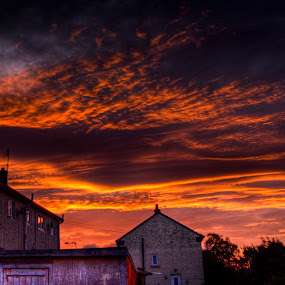 sky on fire this morning 6am by Mark Shepherdson - Landscapes Sunsets & Sunrises (  )
