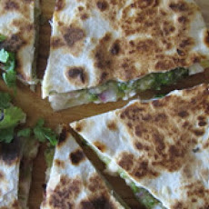 Tomatillo Chicken Quesadillas