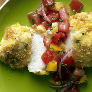 Parmesan-Crusted Bruschetta Chicken