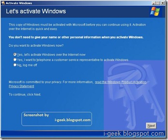 Let's activate windows