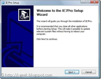 IE7 Pro Setup