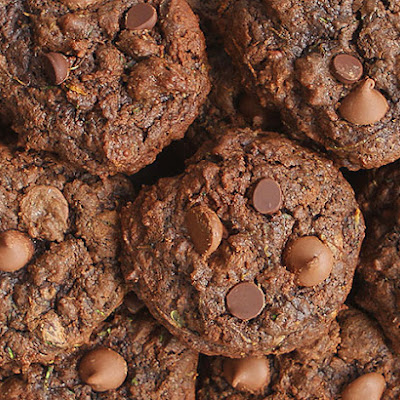 Triple Chocolate Zucchini Cookies