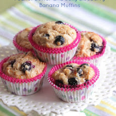 Peanut Butter and Jelly Blueberry Banana Muffins