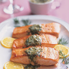 Seared Salmon with Mustard-Caper Butter