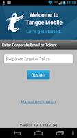 Screenshot of Tangoe Mobile