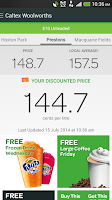 Screenshot of Woolworths Fuel