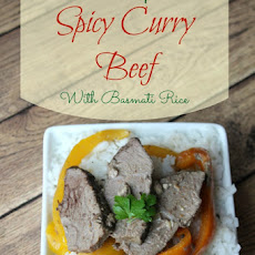 2 Step Spicy Curry Beef With Basmati Rice