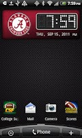 Screenshot of Alabama Crimson Tide Clock