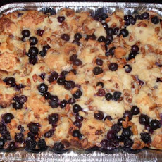 Blueberry Pecan Bread Pudding With Amaretto Sauce