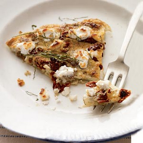 Sun-Dried Tomato, Goat Cheese, and Fresh Basil Frittata