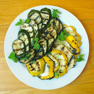 Greek Marinated Grilled Eggplant and Summer Squash