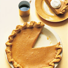 Traditional Pumpkin Pie with a Fluted Crust