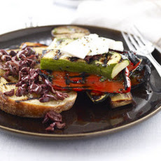 Grilled Ratatouille with Ricotta and Charred Bread