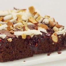 Chocolate Raspberry Bars with White Chocolate and Almonds