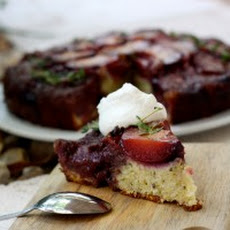 Plum Upside-Down Cake with Thyme, Lemon, and Fennel