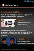 Screenshot of ShapeShot 3D Face Viewer