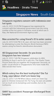 Headlines-Straits Times - screenshot