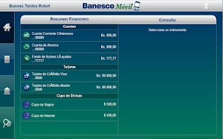 Screenshot of Banesco Móvil Tablet