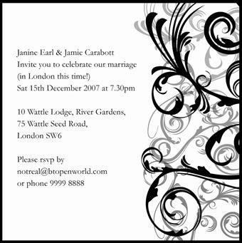 The Jumpcactus Design Blog Janine S Email Wedding Invitation
