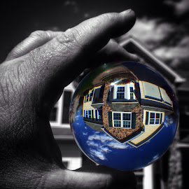 My world turned upside down by Jerry Keefer - Buildings & Architecture Homes ( orb, color splash,  )