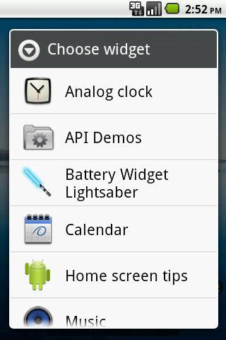Battery Widget Lightsaber