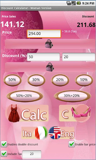 Discount Calculator - Woman