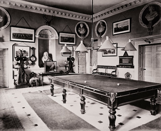Billiard room, Bellamont Forest House, Cootehill, Co. Cavan, 1870.