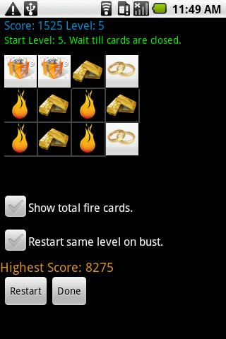 Mem Card Free Game - Skill
