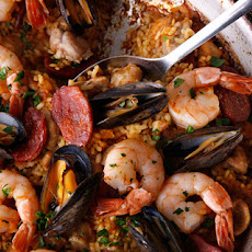 Frying Pan Paella Mixta (Paella with Seafood and Meat) Recipe