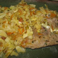 Sage Pork Chops With Apple Slaw