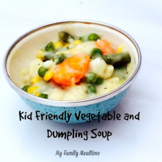 Kid Friendly Vegetable and Dumpling Soup