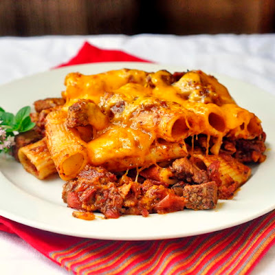 Steak and Bacon Pasta Bake