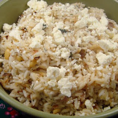 Greek Lemon and Dill Rice With Feta (Rice Cooker)
