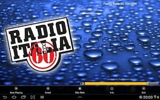 Screenshot of Radio Italia 60 NordEst