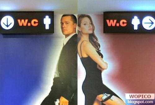 Movie Toilet Sign