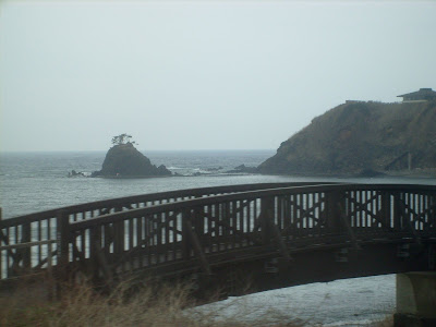 Bridge, Lonely Island and Japan Sea