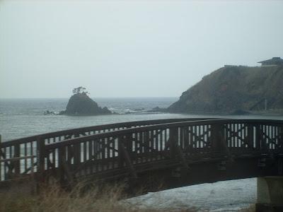 Bridge, Lonely Island and Japan Sea
