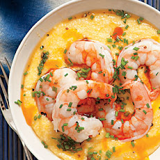 Cheesy Grits with Shrimp